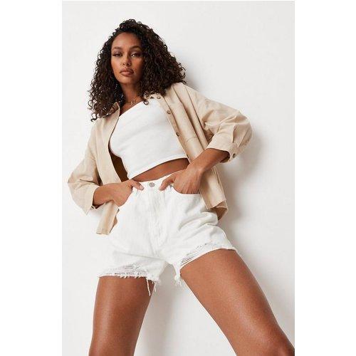 Short en jean déchiré à taille haute - Missguided - Modalova