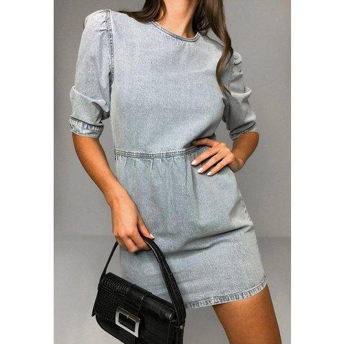 Robe à smocks en jean - Missguided - Modalova
