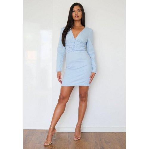 Robe en jean taille cintrée - Missguided - Modalova
