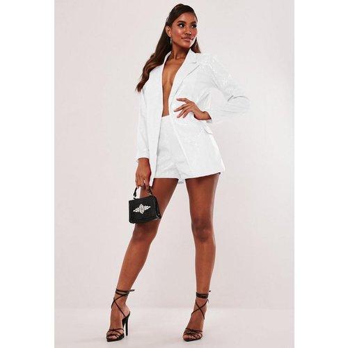 Short à paillettes style tailleur - Missguided - Modalova