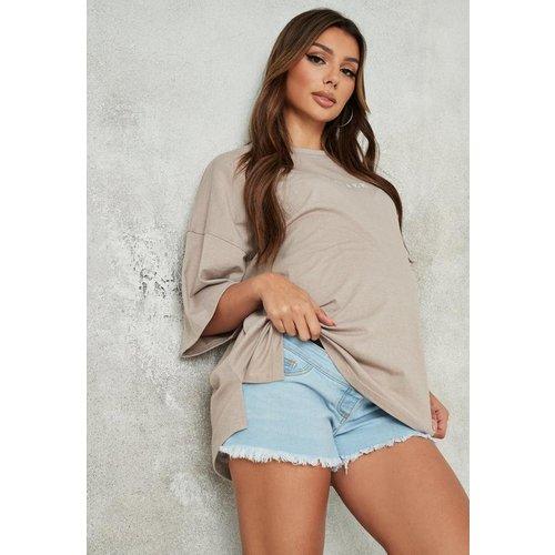 Short en jean avec bande recouvrant le ventre Maternité - Missguided - Modalova