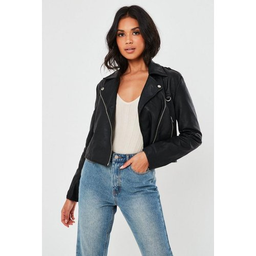 Veste en simili cuir type perfecto - Missguided - Modalova