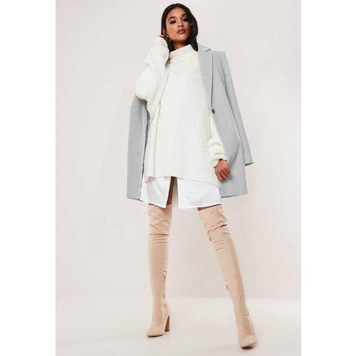 Manteau gris formel, Gris - Missguided - Modalova