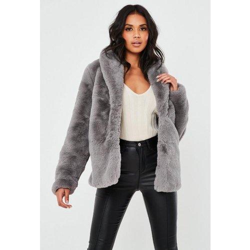 Manteau en fourrure synthétique àcol châle - Missguided - Modalova