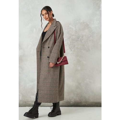 Manteau Oversize en Tissu Ancien à Carreaux - Missguided - Modalova