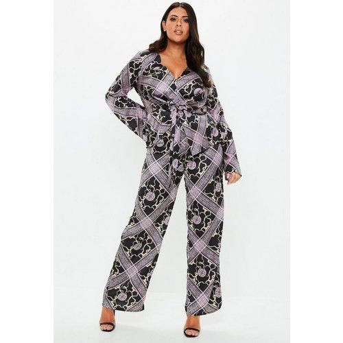 Pantalon large imprimé Grande Taille - Missguided - Modalova