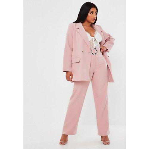 Pantalon droit avec ceinture grandes tailles - Missguided - Modalova