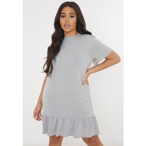 Robe courte en péplum en jersey grandes tailles - Missguided - Modalova