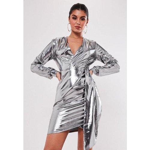 Robe métallique cache-coeur tall - Missguided - Modalova