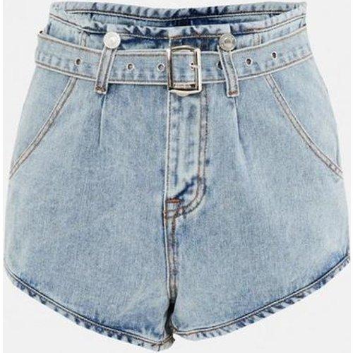 Short en jean courbe avec ceinture tall - Missguided - Modalova