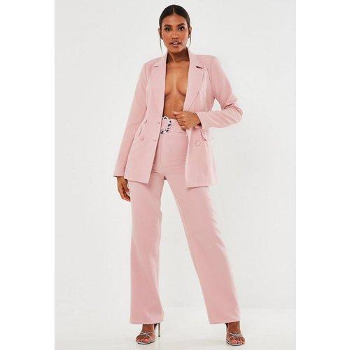 Pantalon droit avec ceinture tall - Missguided - Modalova
