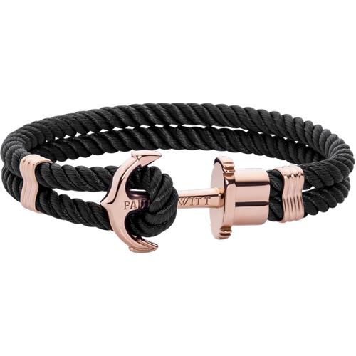 Bracelet Ancre Phrep Or Nylon Noir - PAUL HEWITT - Modalova