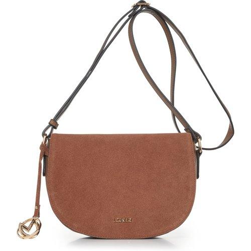 Le sac bandoulière cuir velours - L. Credi - Modalova