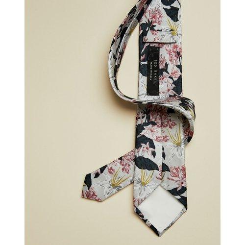 Cravate En Soie Imprimé Fleuri - Ted Baker - Modalova