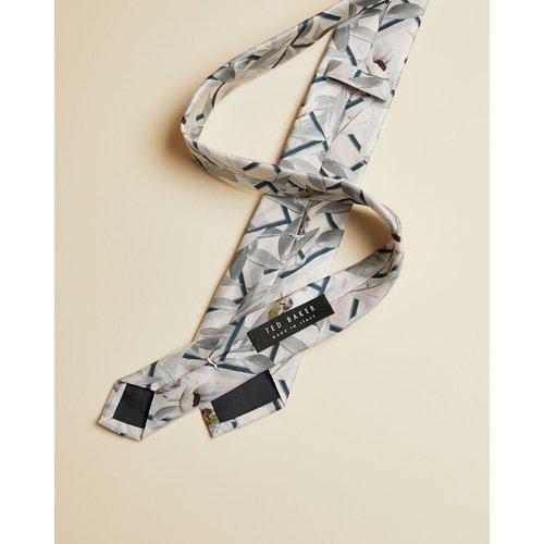 Cravate En Soie Imprimé Géométrique Et Fleuri - Ted Baker - Modalova