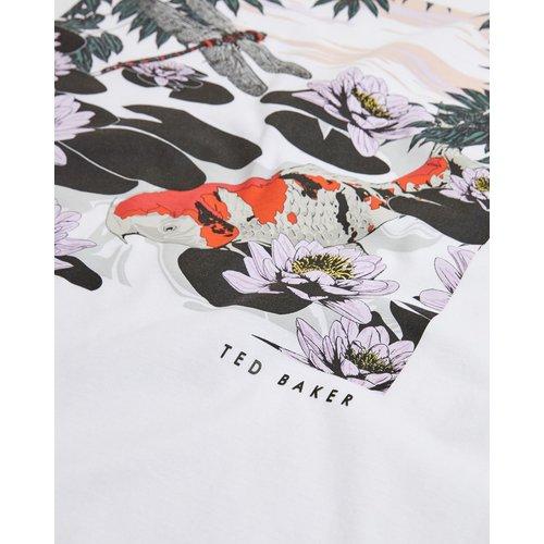T Shirt En Coton Imprimé Graphique - Ted Baker - Modalova