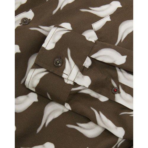 Long Sleeved Bird Print Shirt - Ted Baker - Modalova