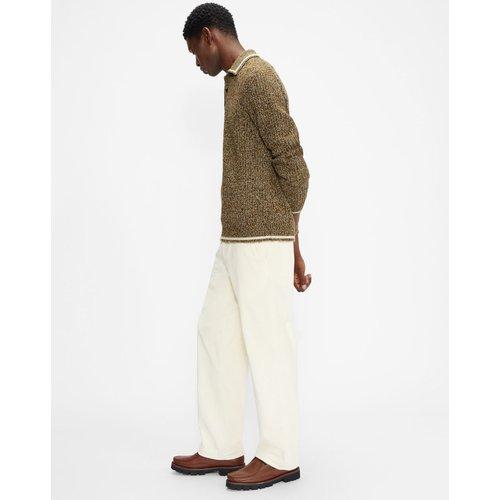 Long Sleeved Mouline Polo - Ted Baker - Modalova