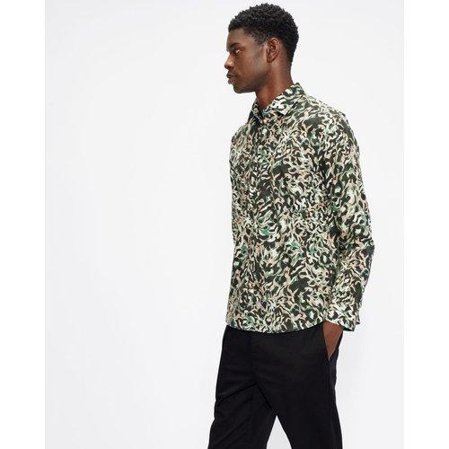 Long Sleeved Animal Print Shirt - Ted Baker - Modalova