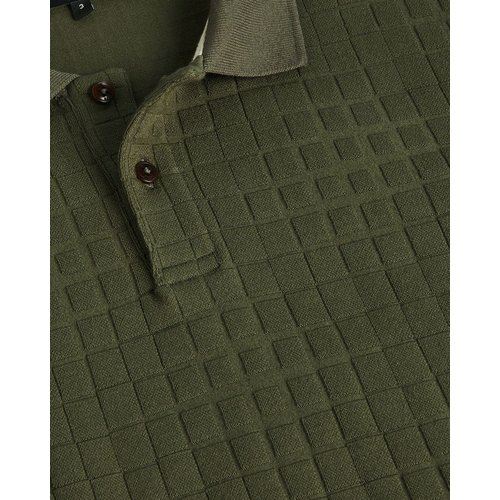 Woven Texture Long Sleeved Polo - Ted Baker - Modalova