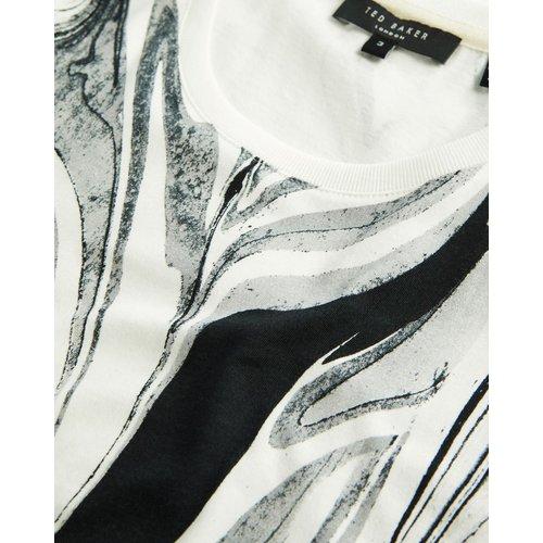 Marble Print T-shirt - Ted Baker - Modalova