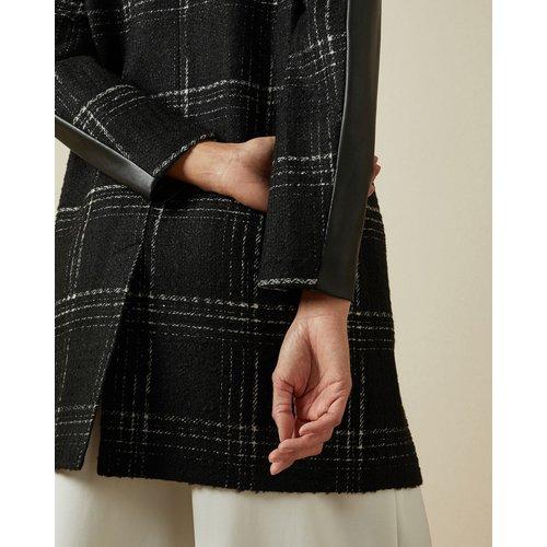 Manteau En Similicuir À Carreaux - Ted Baker - Modalova