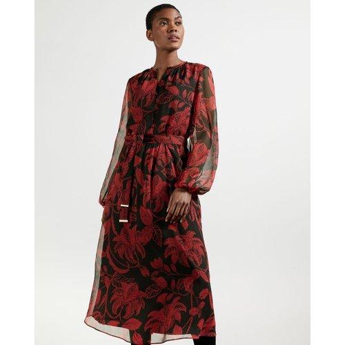 Robe Mi-longue Imprimé Rococo - Ted Baker - Modalova