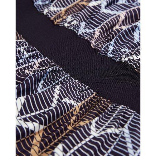 Robe Mi-longue Motif Géométrique - Ted Baker - Modalova