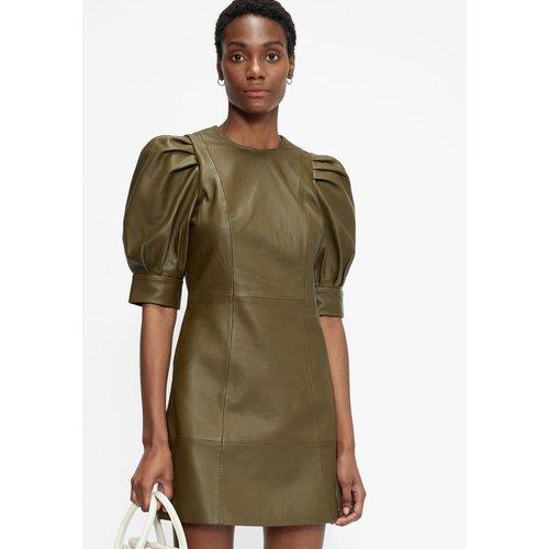 Leather Puff Sleeve Mini Dress - Ted Baker - Modalova