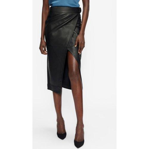 Leather A-symmetric Wrap Skirt - Ted Baker - Modalova
