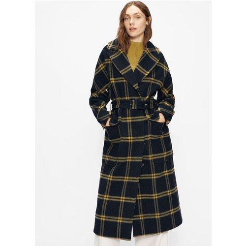 Brushed Wool Check Belted Coat - Ted Baker - Modalova