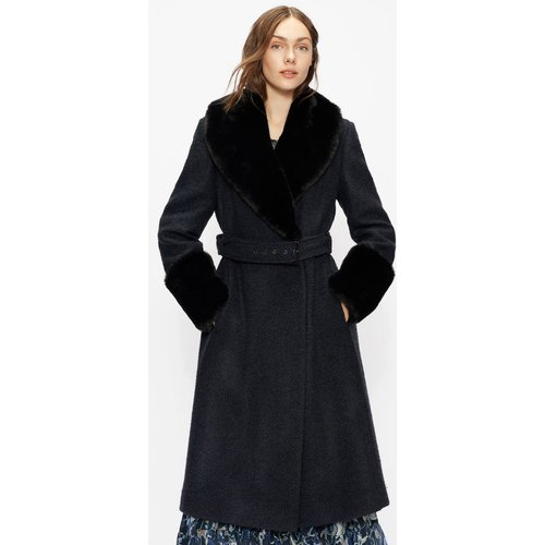 Belted Coat With Faux Fur - Ted Baker - Modalova