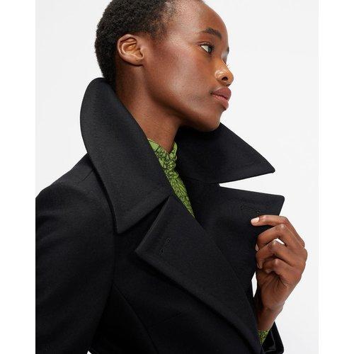 Wool Coat With Oversized Collar - Ted Baker - Modalova