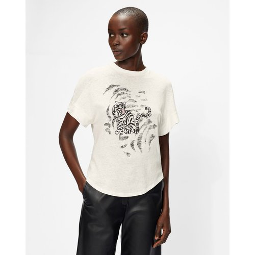 Tiger Illustration Print T-shirt - Ted Baker - Modalova