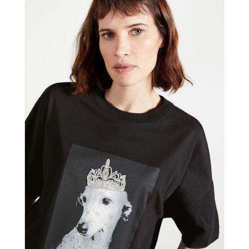 T-shirt Graphique Chien Et Diadème - Ted Baker - Modalova