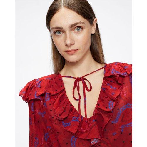 Printed Tie Up Blouse - Ted Baker - Modalova