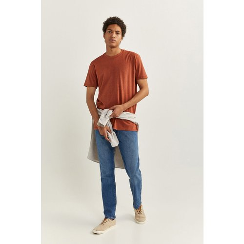 T-shirt manches courtes texturé - springfield - Modalova