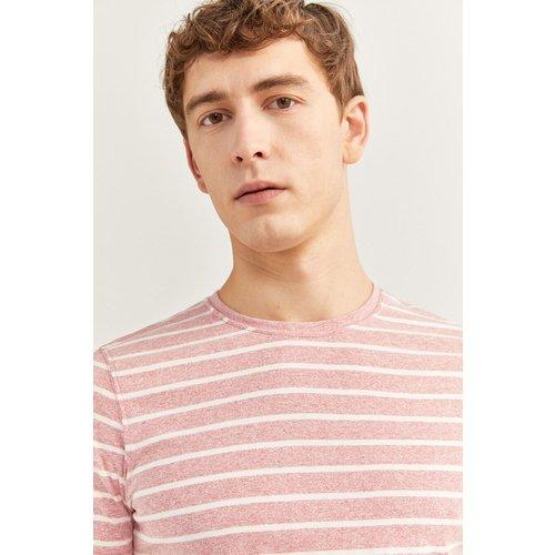 T-shirt micro-rayure broderie - springfield - Modalova