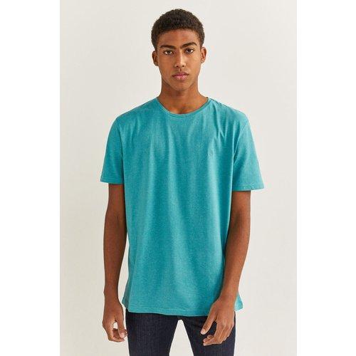 T-shirt microrayure broderie - springfield - Modalova