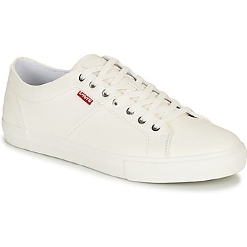 Levi's Levis  WOODWARD  men's Shoes (Trainers) in White. Sizes available:6,7,8,9,10,11,8,9