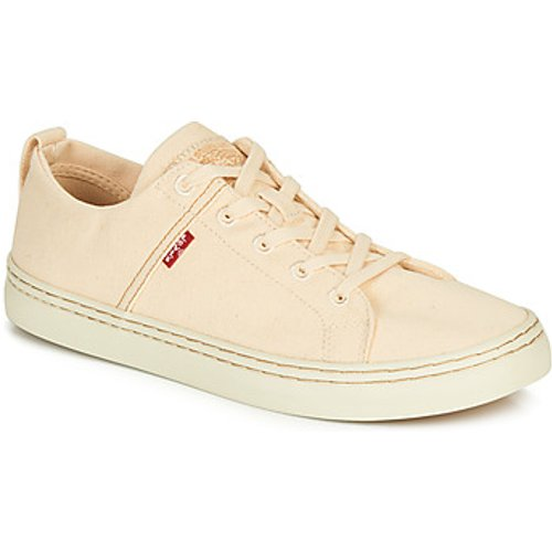 Levi's Levis  SHERWOOD LOW  men's Shoes (Trainers) in Beige. Sizes available:6,7,8,9,10,11