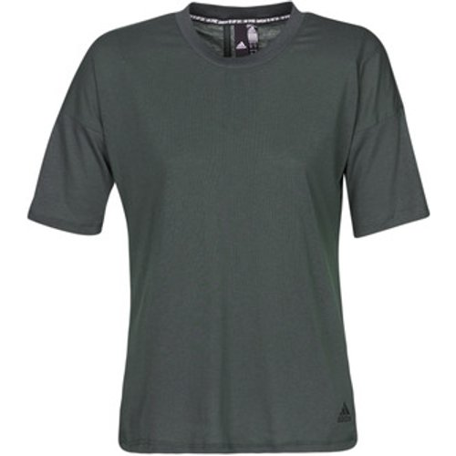 Adidas Womens adidas Khaki Must Have 3 Stripe T-Shirt -  Green