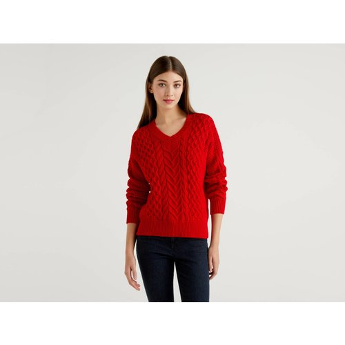 Benetton Online exclusive, Pull En Maille En Pur Coton, taille L, Rouge - United Colors of Benetton - Modalova