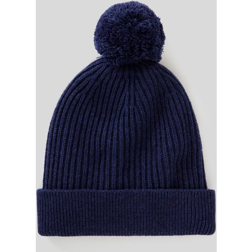 Benetton, Bonnet En Laine Avec Pompon, taille S, Bleu - United Colors of Benetton - Modalova