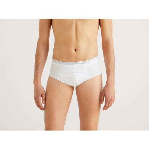 Benetton, Slip En Coton Bio Stretch, taille EL, Blanc - United Colors of Benetton - Modalova