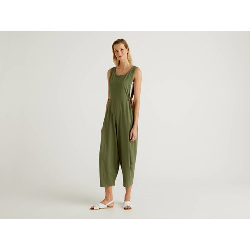 Benetton, Combi-pantalon Oversize Sans Manches, taille L, Kaki - United Colors of Benetton - Modalova