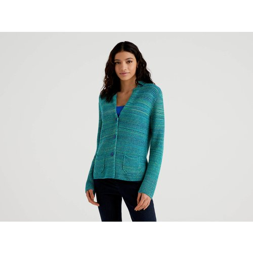 Benetton, Veste En Maille 100% Coton, taille L, Vert - United Colors of Benetton - Modalova