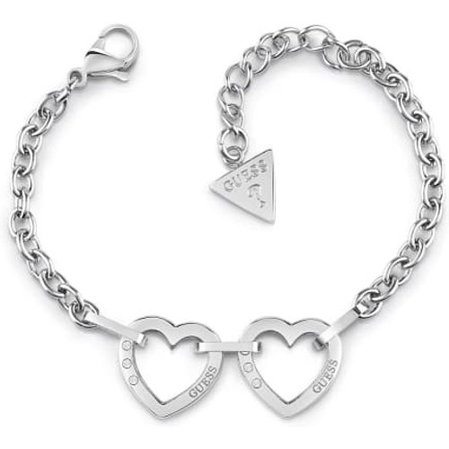 Bracelet Hearted Chain Double Coeur - Guess - Modalova