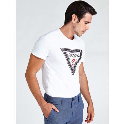 T-Shirt Imprime Logo Triangulaire - Guess - Modalova