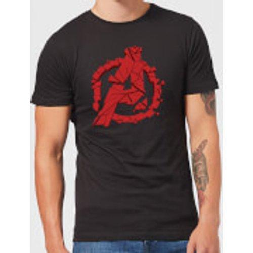 Marvel Avengers Endgame Shattered Logo Men's T-Shirt - Black - XXL - Black